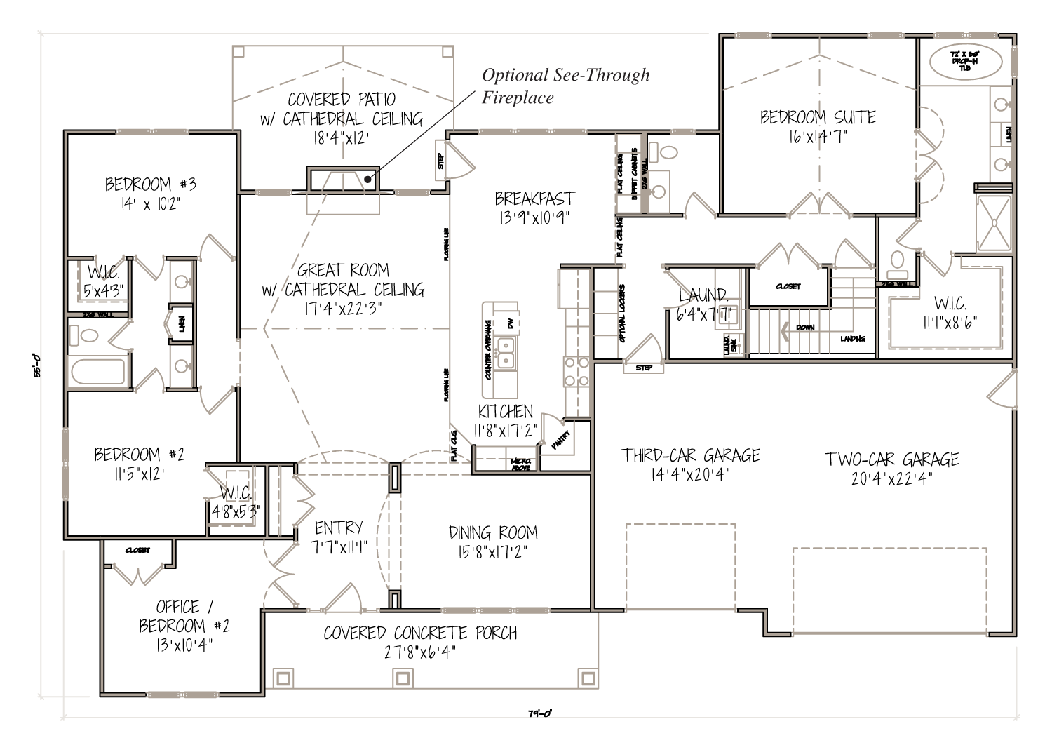 The aspen 2 627 sq ft new home model available in o for Aspen homes floor plans